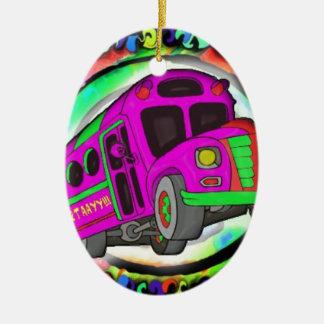 Party Bus.jpg Ceramic Oval Decoration