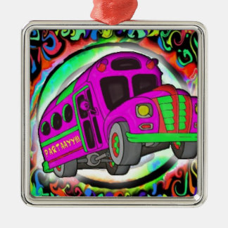 Party Bus.jpg Silver-Colored Square Decoration