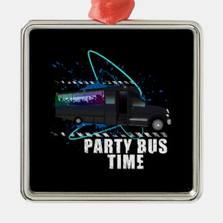 Party Bus Time Metal Ornament