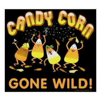 Party Candy Corn Halloween Poster