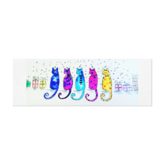 Party Cats Canvas