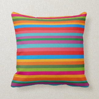Party Colored Rainbow Stripes American MoJo Pillow