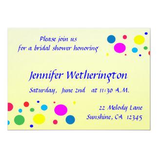 Party Colors Bridal Shower Card
