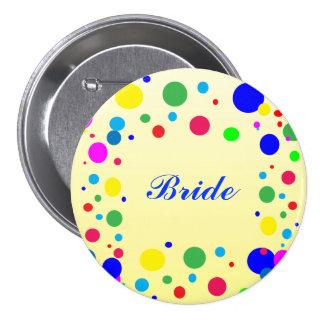 Party Colors Bridal Wedding Pin