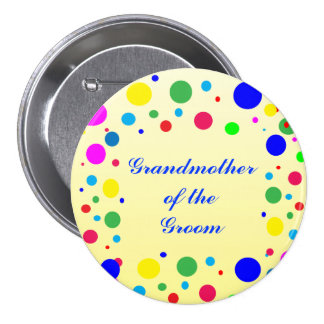 Party Colors Grandmother of the Groom Wedding Pin