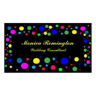 Party Colors Wedding Consultant Pack Of Standard Business Cards