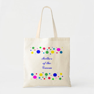 Party Colours Wedding Mother of the Groom Canvas Bag