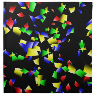 Party Confetti - Black Background Napkin