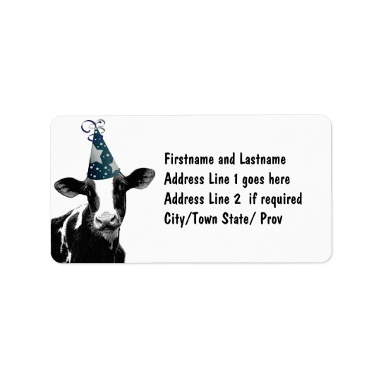 Party Cow -  Dairy Style Celebration Label