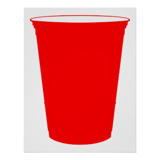 party cup print