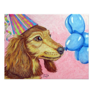 Party Dachshund Announcement