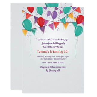 Party Decorations Invitation
