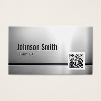 Party DJ - Stainless Steel QR Code Business Card