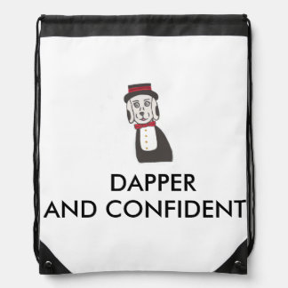 Party Dog Dress To Impress Drawstring Backpack