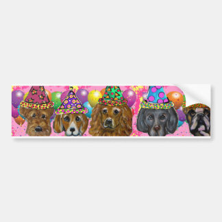 PARTY DOGS BUMPER STICKER