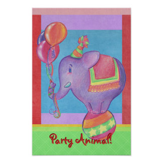 Party Elephant Poster