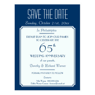 Party, Event or Reunion Save the Date in Blue Postcards