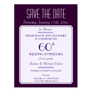 Party, Event or Reunion Save the Date in Plum Postcards