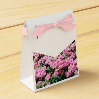 Party Favor Box with Pink Azaleas