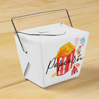 Party favor carnival popcorn birthday party favour box