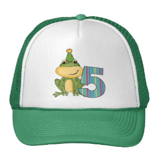 Party Frog 5th  Birthday T-shirts and Gifts Cap