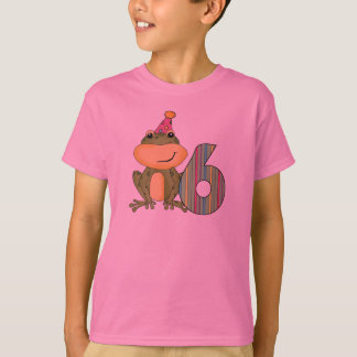 Party Frog 6th Birthday T-shirts and Gifts