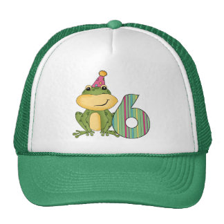 Party Frog 6th Birthday T-shirts and Gifts Cap