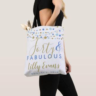 party gift milestone birthday custom age, female tote bag