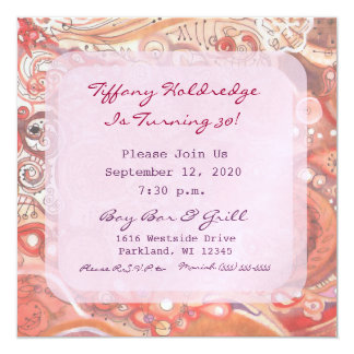 Party Girl Dirty 30 Bachelorette Style Birthday - 13 Cm X 13 Cm Square Invitation Card