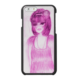 Party Girl Flapper in Hot Pink Incipio Watson™ iPhone 6 Wallet Case