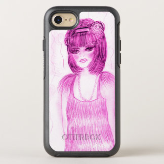 Party Girl Flapper in Hot Pink OtterBox Symmetry iPhone 7 Case