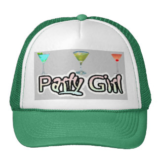 Party Girl Hat (White/Green)