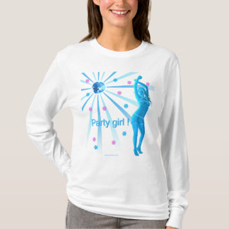 Party girl ladies long sleeve T-Shirt