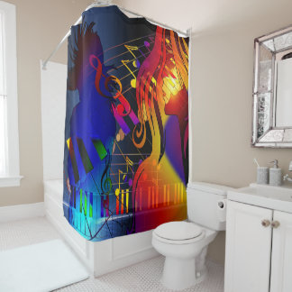 Party Girl With Music Shower Curtain