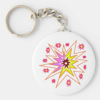 Party GIVEAWAY LowPRICE Sparkle Colorful gifts Basic Round Button Key Ring