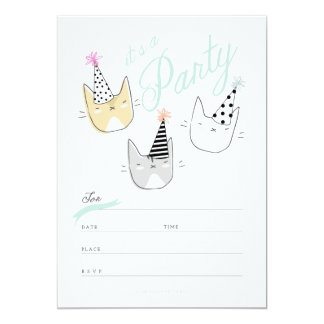 Party Hat Cats Invite