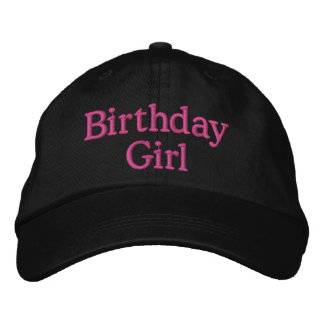 Party hat grown up style embroidered hats
