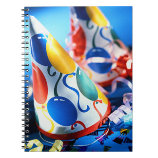 Party Hats Spiral Notebook
