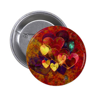Party Hearts Pinback Button