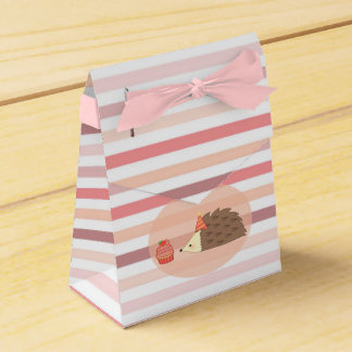 Party Hedgehog and Cupcake Favour Box