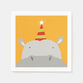 Party Hippo Paper Napkin