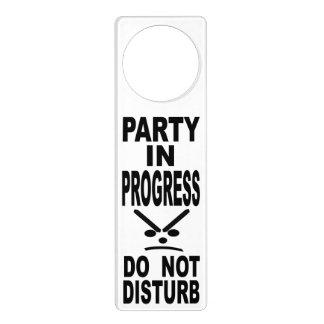 Party In Progress Do Not Disturb Door Hanger