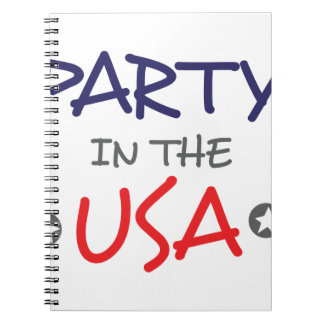 PARTY IN THE USA NOTEBOOK