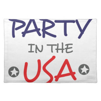 PARTY IN THE USA PLACEMAT