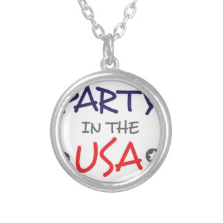 PARTY IN THE USA SILVER PLATED NECKLACE