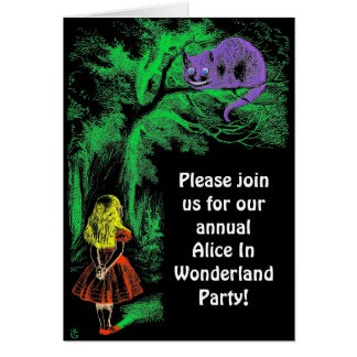 "Party Invitation: ""Cheshire Cat"" Card"