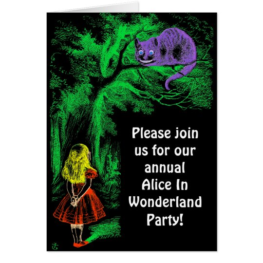"Party Invitation: ""Cheshire Cat"" Card"