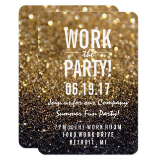 Party Invite | Gold Lit Nite Fab