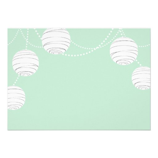 Party Lanterns in Mint Green Announcement