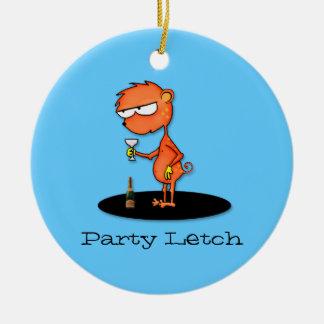 Party Letch Round Ceramic Decoration